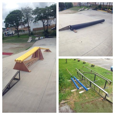 All the rails we had for this year's competition...