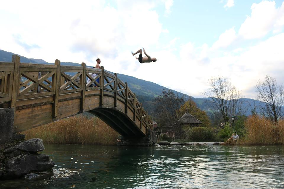 Bridge jumping on one of our down days
